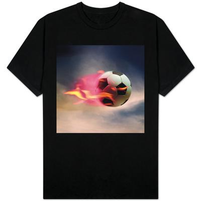 Flaming Soccer Ball T-shirts