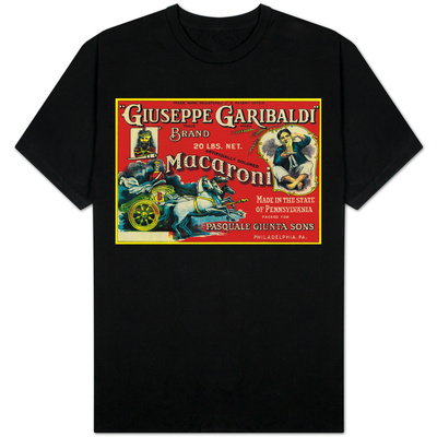Giuseppe Garibaldi Macaroni Label - Philadelphia, PA T-shirts