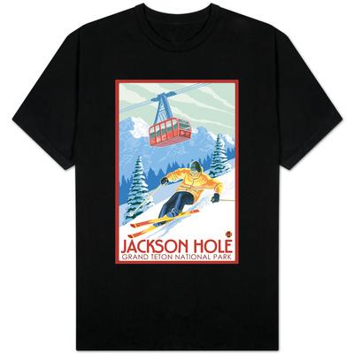Wyoming Skier and Tram, Jackson Hole Shirt