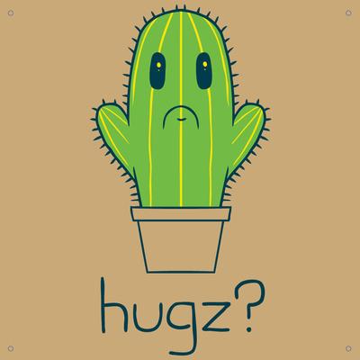 HUGZ Tin Sign