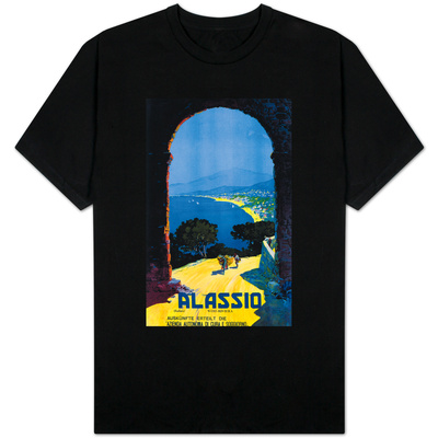 Alassio, Italy - West Italian Riviera Travel Poster - Alassio, Italy T-shirts