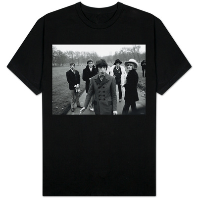 Mick Jagger the Rolling Stones in Green Park London Emulating Recent San Francisco Hippy Fashions T-shirts