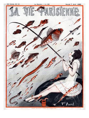 La Vie Parisienne, A Vallee, 1923, France Giclee Print