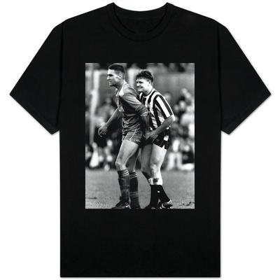 Paul Gascoigne and Vinnie Jones T-shirts