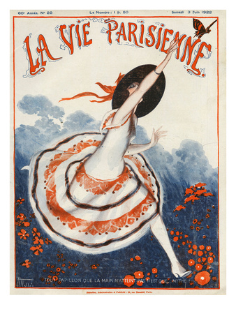 La Vie Parisienne, Armand Vallee, 1922, France Giclee Print