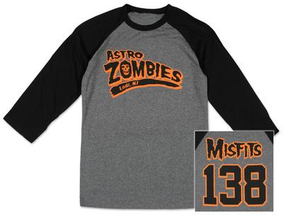 The Misfits - Astro Zombies (Front/Back Raglan) Koszulka z długim rękawem