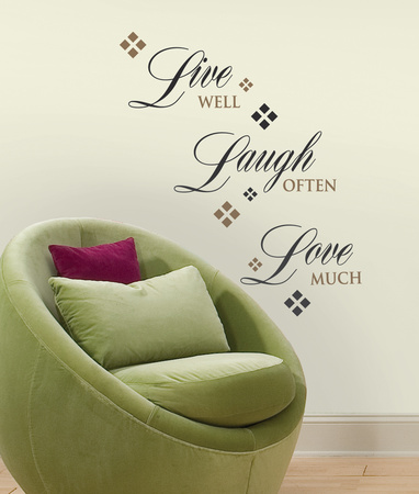 Live, Laugh, Love wall decal peel and stick