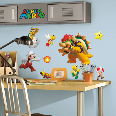 Nintendo - Super Mario Peel & Stick Wall Decals Muursticker