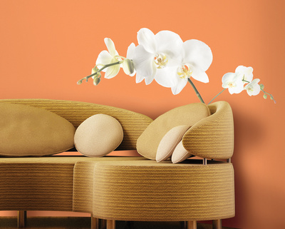 White Orchid Peel & Stick Wall Decals Wall Decal