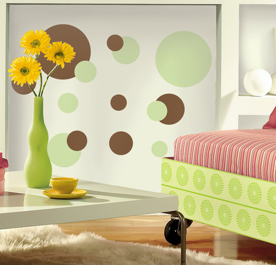 Just Dots Green/Brown Peel & Stick Wall Decals Wall Decal