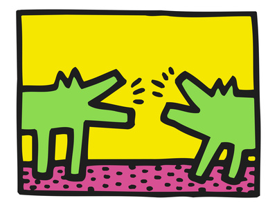 Pop Shop (Dogs) Stampa giclée di Keith Haring