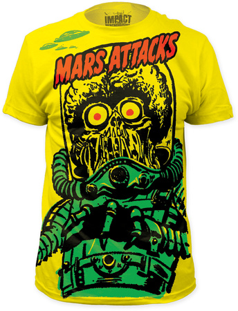 Mars Attacks - Big Yellow Martian (Slim Fit) T-shirts