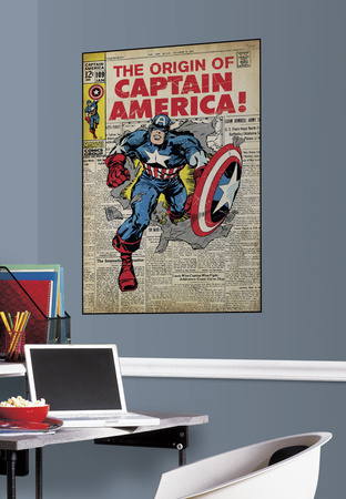 Captain America Peel & Stick Comic Cover Wall Decal Wall Decal