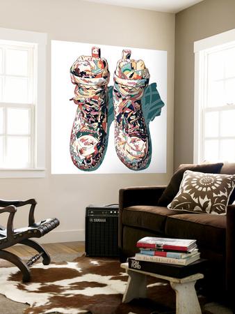 Sneaker Wall Mural by  HR-FM