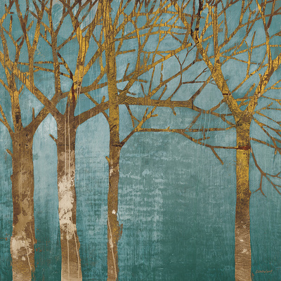 Golden Day Turquoise Prints by Kathrine Lovell