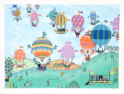 Balloon Race Collectable Print by Jack Hofflander