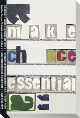 Make Chance Essential Stretched Canvas Print