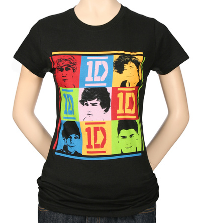 Juniors: One Direction - 9 Squares T-Shirt