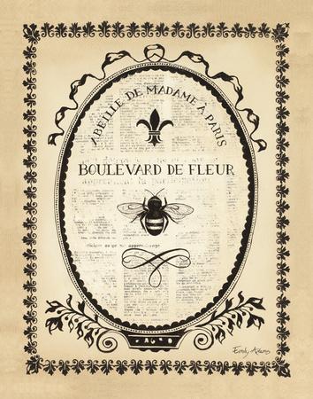Paris Bees II Posters by Emily Adams