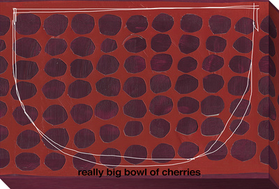 Big Bowl of Cherries Stretched Canvas Print