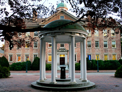University of North Carolina – The Old Well and South Building Photo by Rob Goldberg