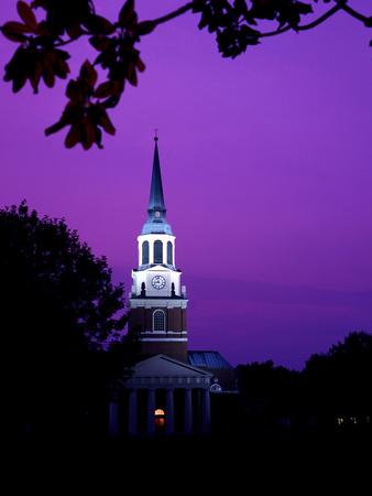 Wake Forest University - Wait Chapel at Night Photo