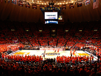 University of Illinois - Assembly Hall Basketball Game Photo