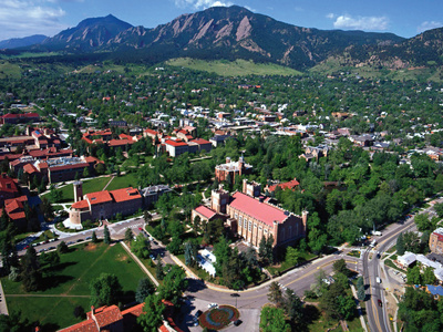 University of Colorado - Picturesque View of Colorado Campus Foto