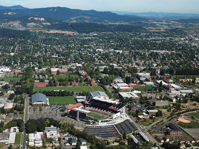 Oregon State University - Aerial View of Reser Stadium and Campus Photo