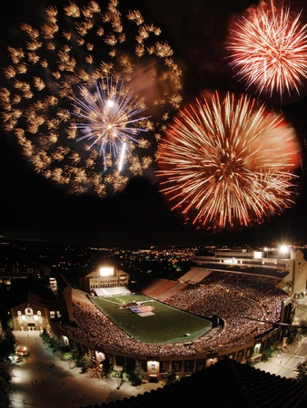 University of Colorado - Folsom Field Fireworks Foto