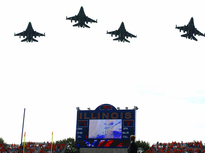 University of Illinois - Jets Fly over Memorial Stadium Photo