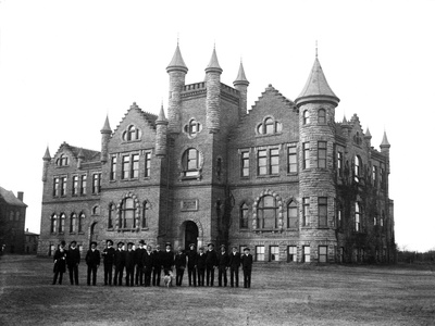 Oklahoma State University - Library and Biology in 1904 Photo