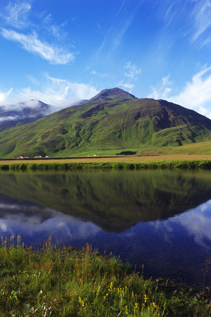 Icelandic fjiord landscape Laxardalsfjord Photographic Print by Charles Bowman