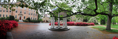 University of North Carolina - The Old Well in the Spring Panorama Photo