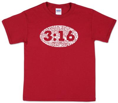 Youth: John 3:16 Word art Shirt