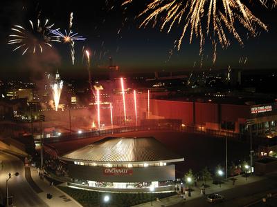 University of Cincinnati - Fireworks over Fifth Third Arena Foto