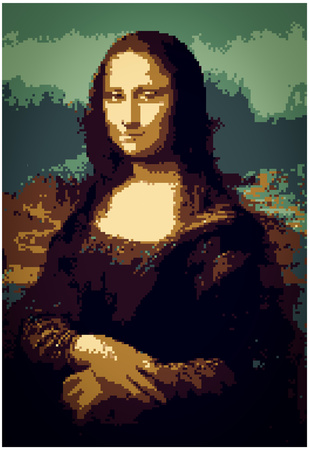 8-Bit Art of Mona Lisa artwork