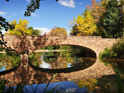 University of Colorado - Varsity Lake Reflections Foto