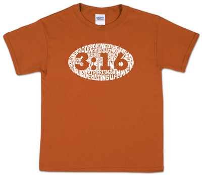Youth: John 3:16 Word art Shirts