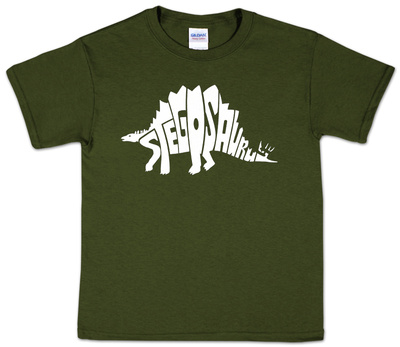 Youth: Stegosaurus Word art T-Shirt