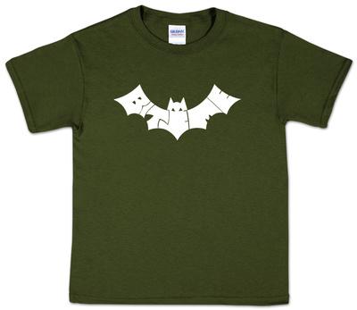 Youth: Bite Me Bat Word Art Shirt