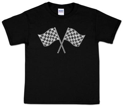 Youth: Nascar Racing Flags Word art T-Shirt