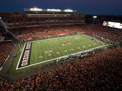 Oregon State University - Night Game at Reser Stadium Photo