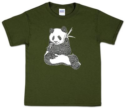 Youth: Panda Word art T-Shirt