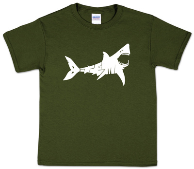 Youth: Shark 'Bite Me' Word art Shirt