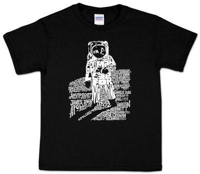 Youth: Astronaut Word Art T-Shirt