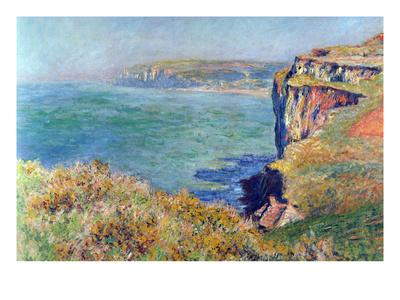 Cliffs at Varengeville Posters by Claude Monet