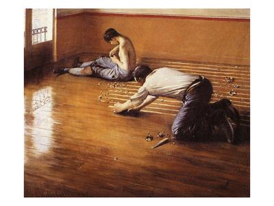 I Piallatori Di Parquet Stampa Di Gustave Caillebotte Su