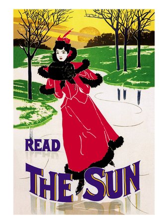Read the Sun: Skating at Sunset Prints by Louis John Rhead