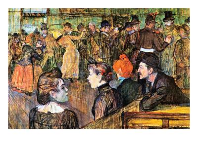 At the Moulin De La Gallette Prints by Henri de Toulouse-Lautrec